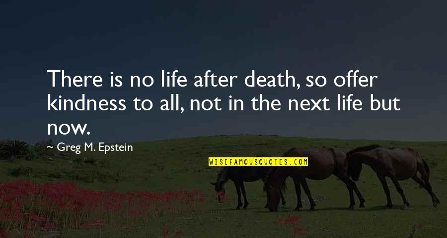 The Life After Death Quotes By Greg M. Epstein: There is no life after death, so offer