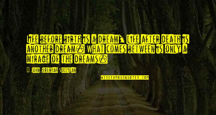 The Life After Death Quotes By John Jeremiah Sullivan: Life before birth is a dream, life after