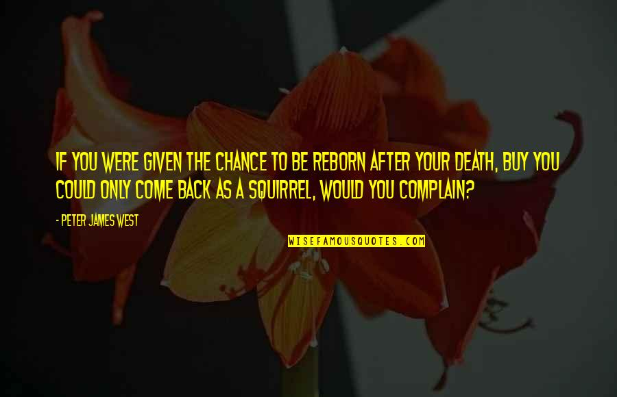 The Life After Death Quotes By Peter James West: If you were given the chance to be