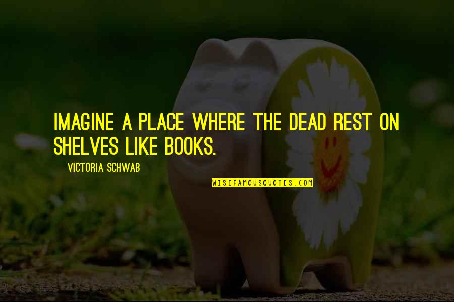 The Life After Death Quotes By Victoria Schwab: Imagine a place where the dead rest on