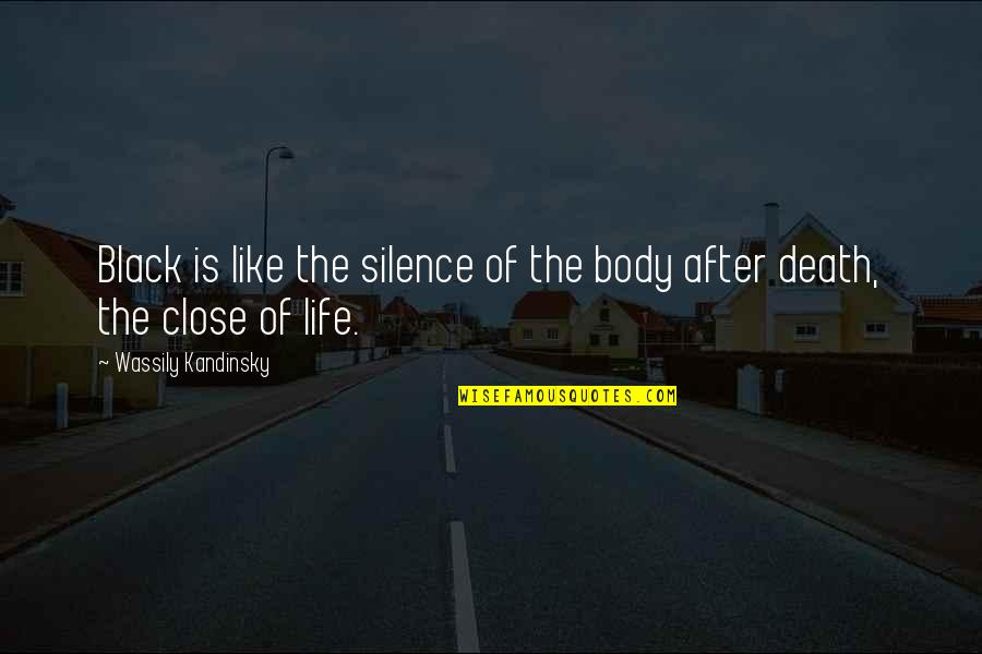 The Life After Death Quotes By Wassily Kandinsky: Black is like the silence of the body
