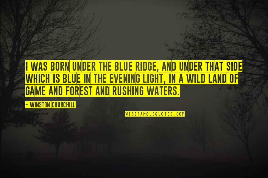 The Light Side Quotes By Winston Churchill: I was born under the Blue Ridge, and