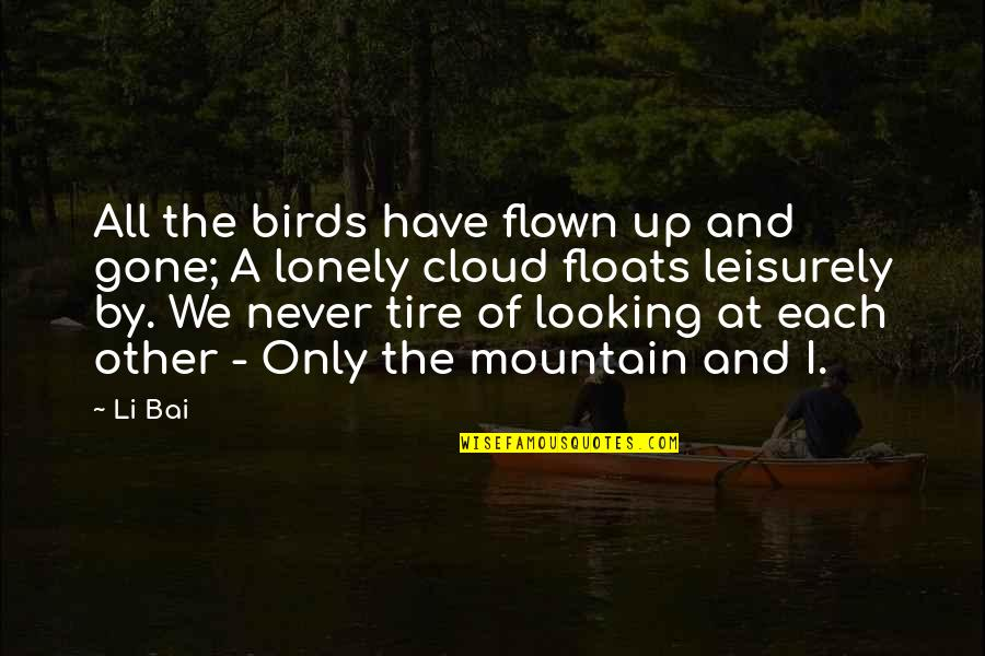 The Lonely Mountain Quotes By Li Bai: All the birds have flown up and gone;