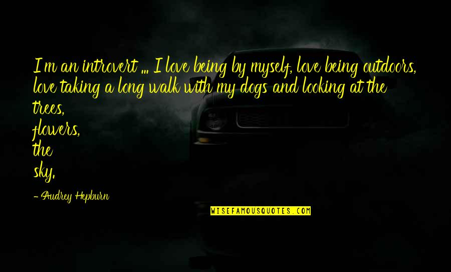 The Long Walk Quotes By Audrey Hepburn: I'm an introvert ... I love being by