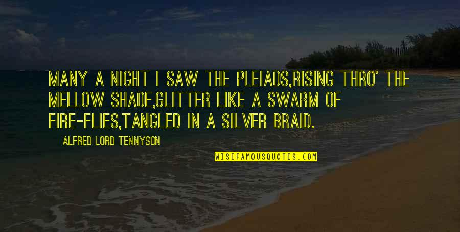 The Lord Of Flies Quotes By Alfred Lord Tennyson: Many a night I saw the Pleiads,Rising thro'