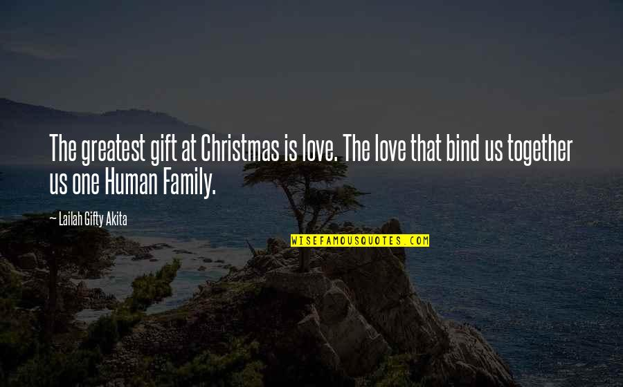 The Love Of Family Quotes By Lailah Gifty Akita: The greatest gift at Christmas is love. The