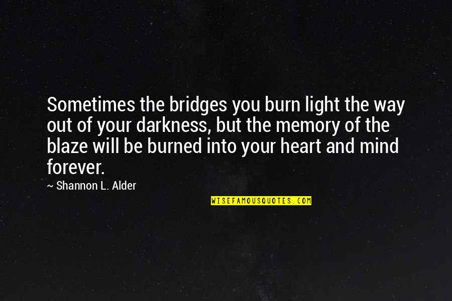 The Love Of Family Quotes By Shannon L. Alder: Sometimes the bridges you burn light the way