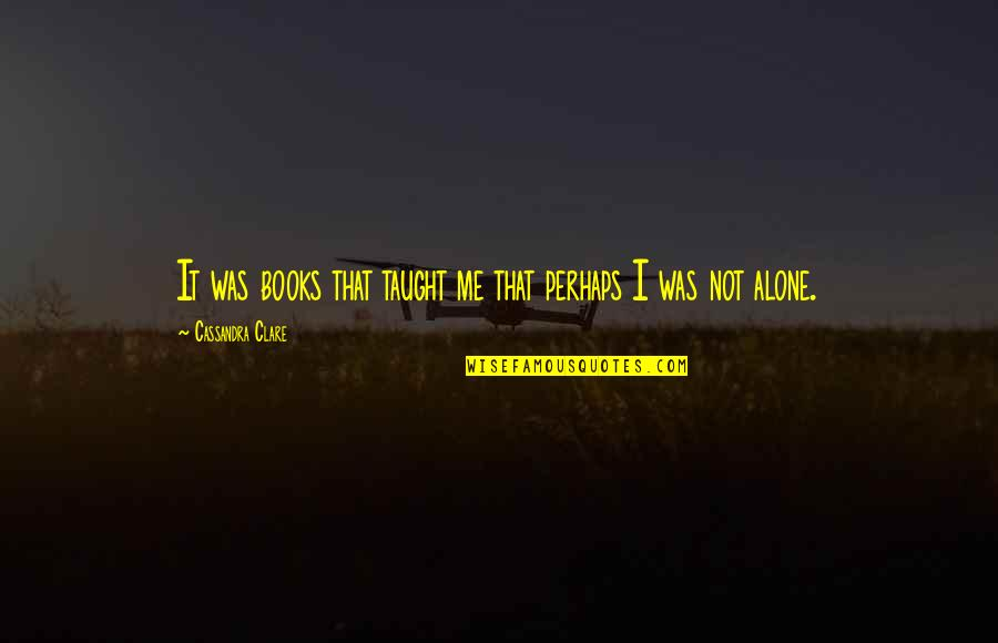 The Lying Game Book Quotes By Cassandra Clare: It was books that taught me that perhaps