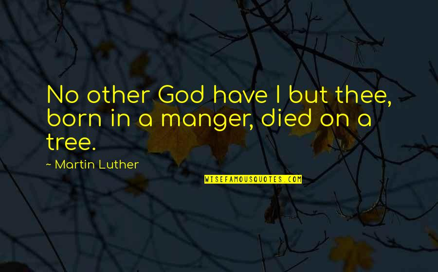 The Manger Quotes By Martin Luther: No other God have I but thee, born