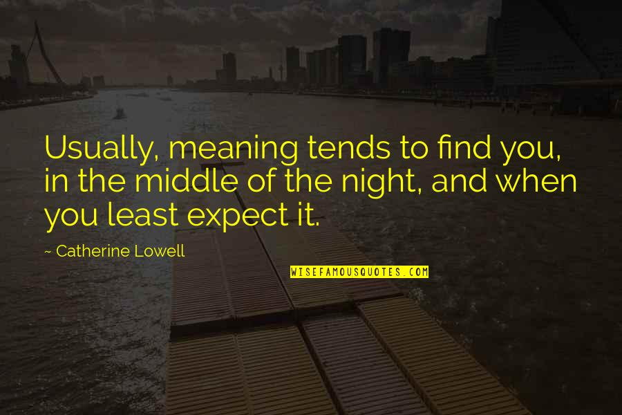 The Middle Of The Night Quotes By Catherine Lowell: Usually, meaning tends to find you, in the