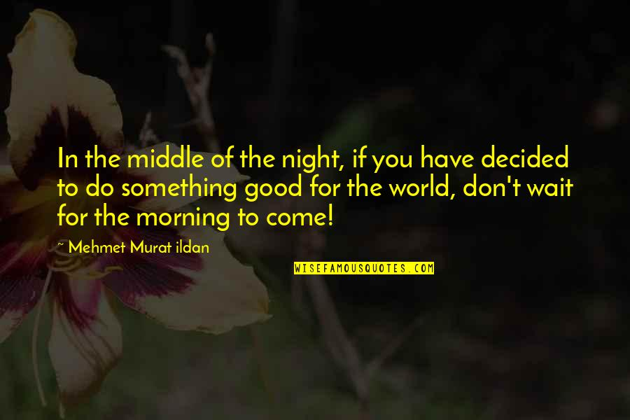 The Middle Of The Night Quotes By Mehmet Murat Ildan: In the middle of the night, if you