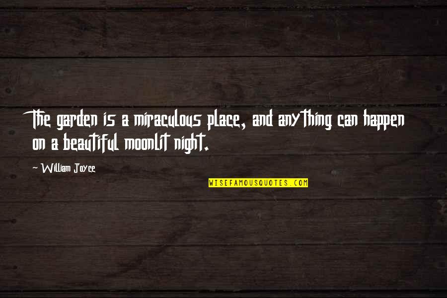 The Miraculous Quotes By William Joyce: The garden is a miraculous place, and anything