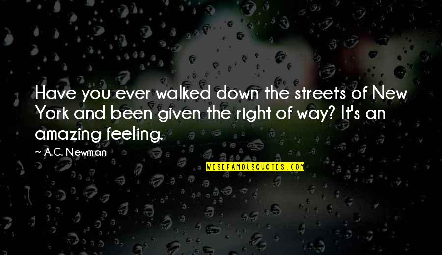 The Most Amazing Feeling Quotes By A.C. Newman: Have you ever walked down the streets of