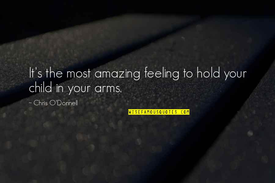 The Most Amazing Feeling Quotes By Chris O'Donnell: It's the most amazing feeling to hold your