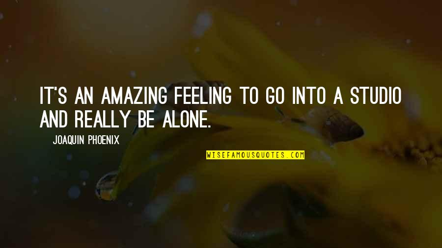 The Most Amazing Feeling Quotes By Joaquin Phoenix: It's an amazing feeling to go into a