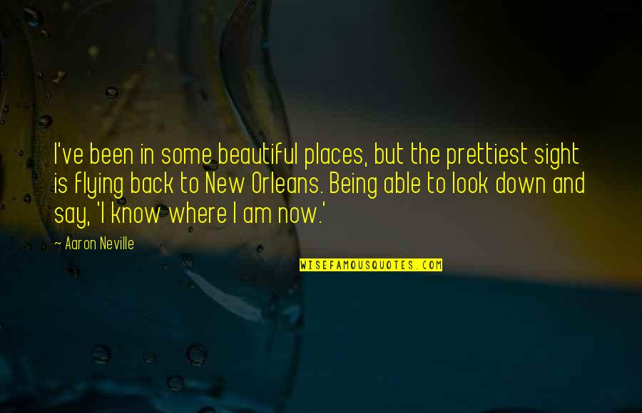 The Most Beautiful Places Quotes By Aaron Neville: I've been in some beautiful places, but the