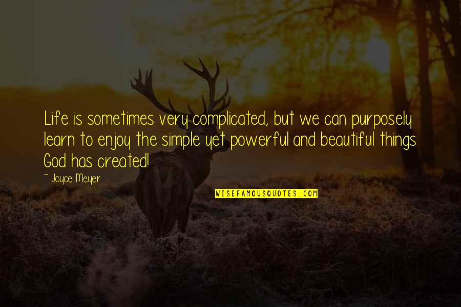 The Most Beautiful Things In Life Quotes By Joyce Meyer: Life is sometimes very complicated, but we can