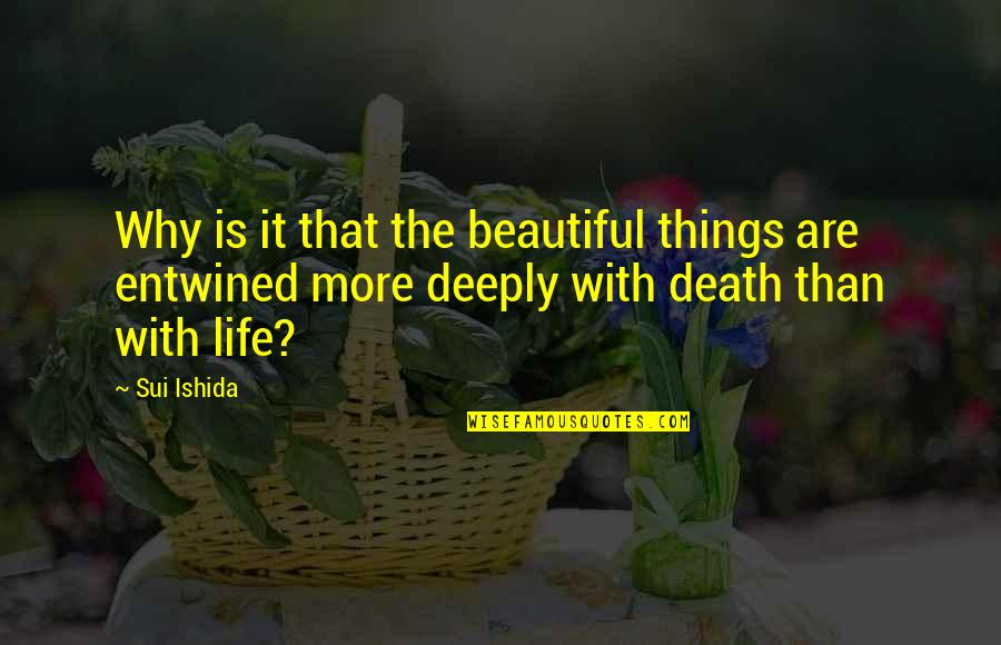 The Most Beautiful Things In Life Quotes By Sui Ishida: Why is it that the beautiful things are