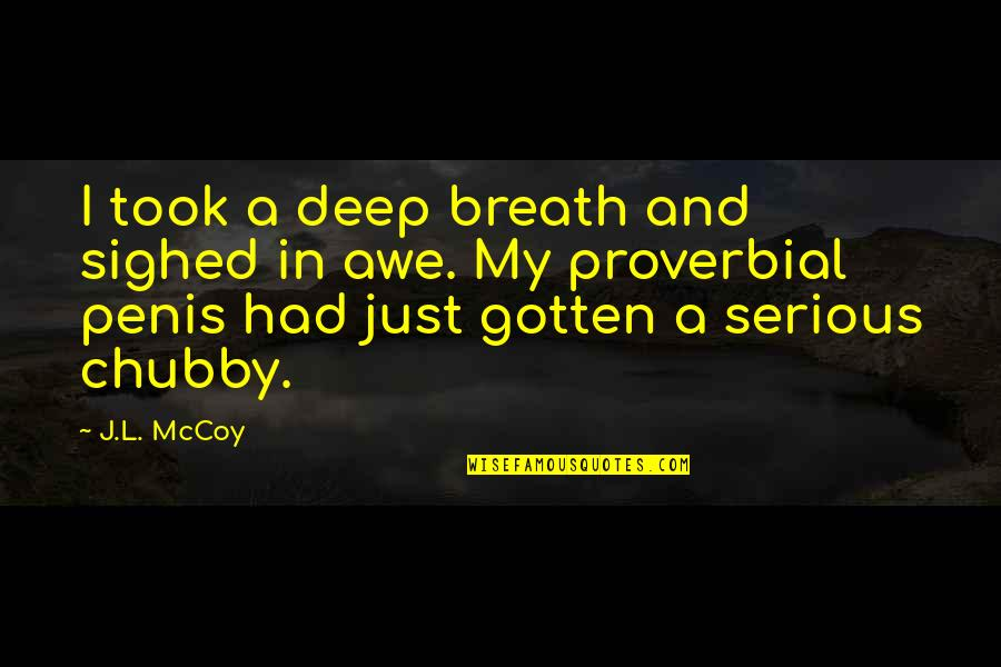 The Most Painful Goodbyes Quotes By J.L. McCoy: I took a deep breath and sighed in