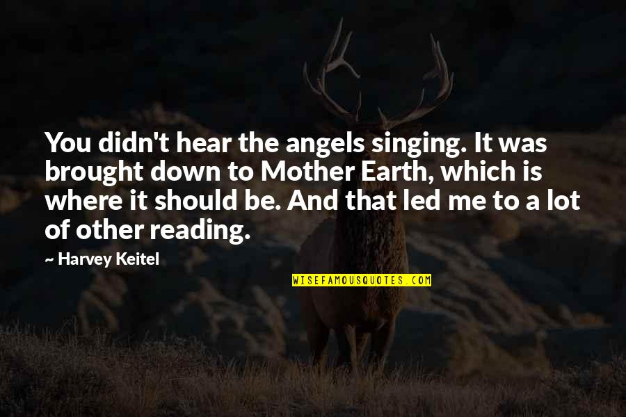 The Mother Earth Quotes By Harvey Keitel: You didn't hear the angels singing. It was