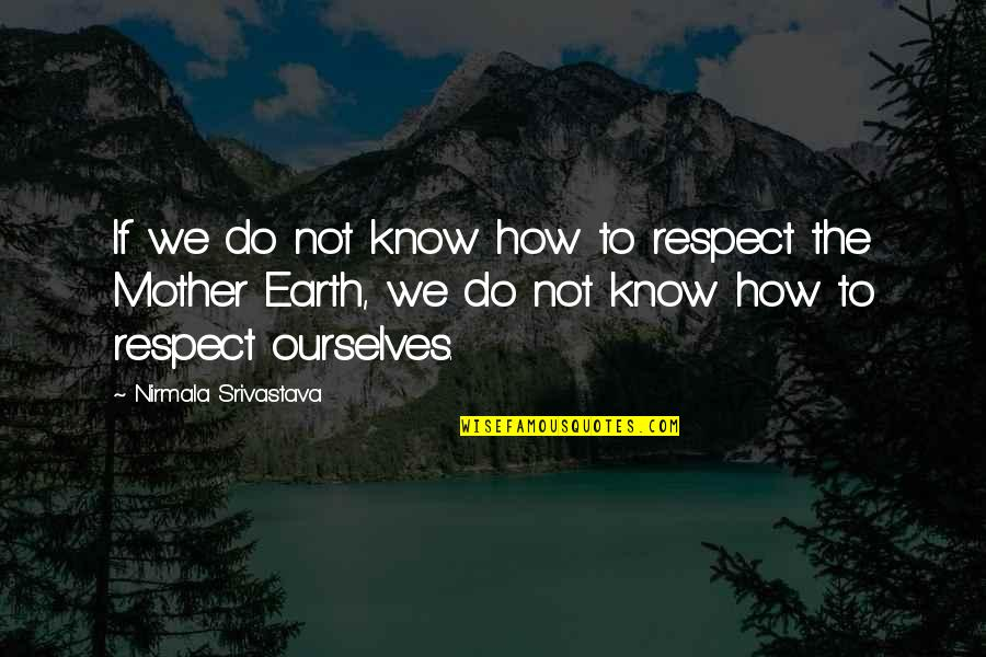 The Mother Earth Quotes By Nirmala Srivastava: If we do not know how to respect