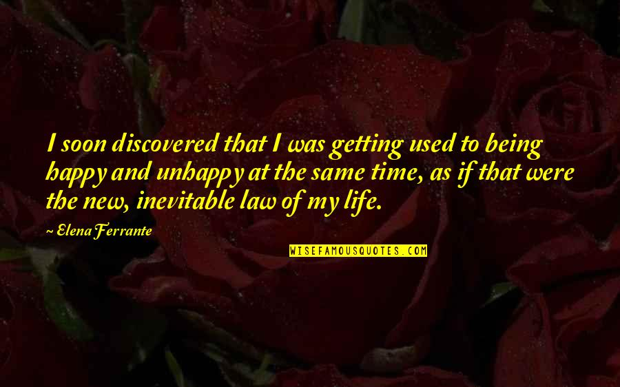 The New Life Quotes By Elena Ferrante: I soon discovered that I was getting used
