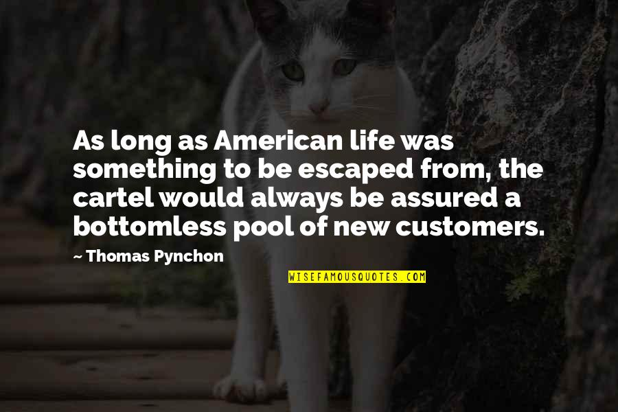 The New Life Quotes By Thomas Pynchon: As long as American life was something to
