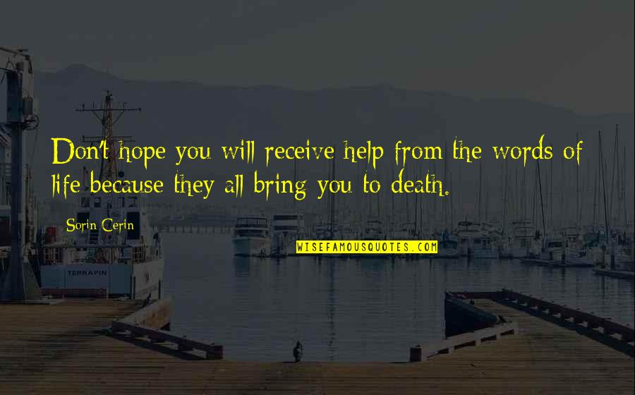 The New Moon Phase Quotes By Sorin Cerin: Don't hope you will receive help from the