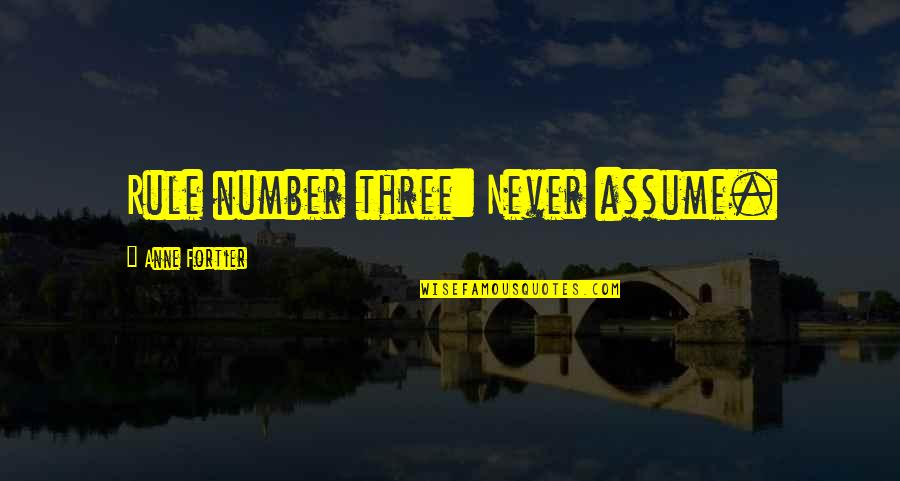 The Number Three Quotes By Anne Fortier: Rule number three: Never assume.