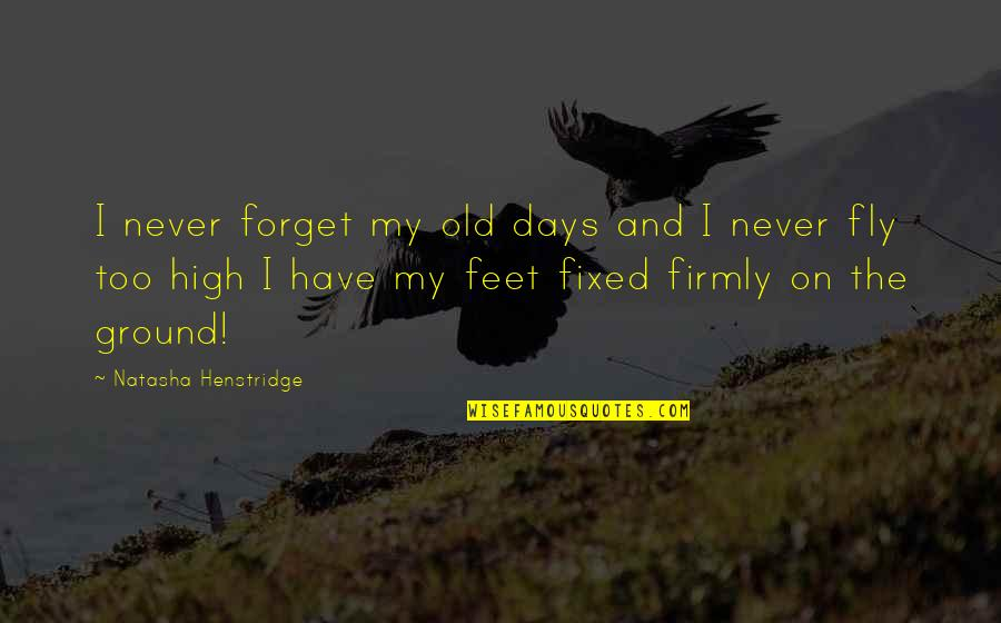 The Old Days Quotes By Natasha Henstridge: I never forget my old days and I