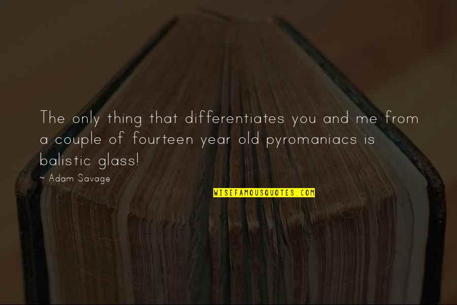 The Old Year Quotes By Adam Savage: The only thing that differentiates you and me