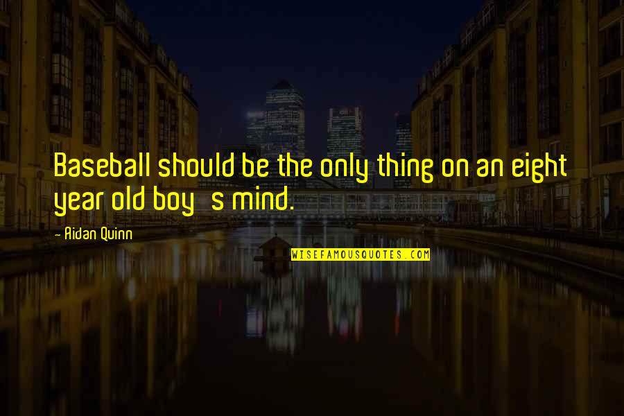 The Old Year Quotes By Aidan Quinn: Baseball should be the only thing on an