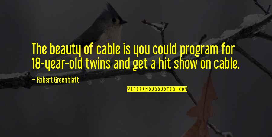 The Old Year Quotes By Robert Greenblatt: The beauty of cable is you could program