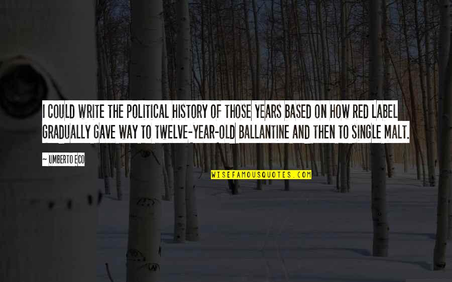 The Old Year Quotes By Umberto Eco: I could write the political history of those