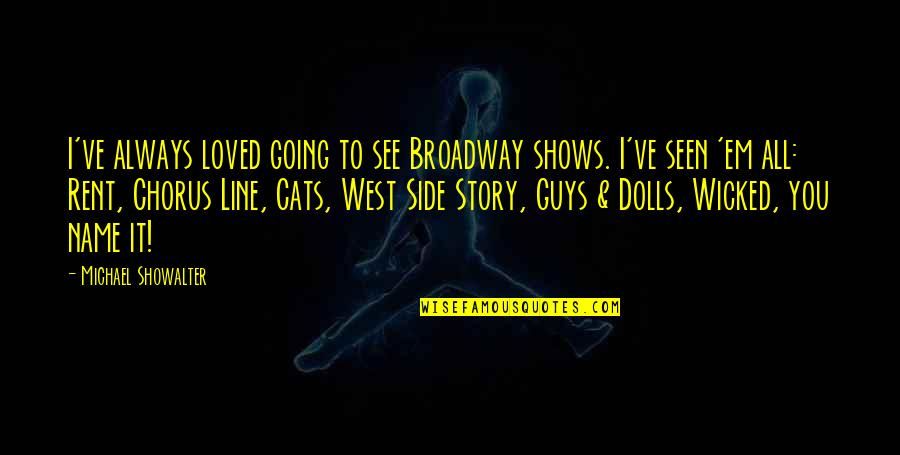 The Other Side Of The Story Quotes By Michael Showalter: I've always loved going to see Broadway shows.