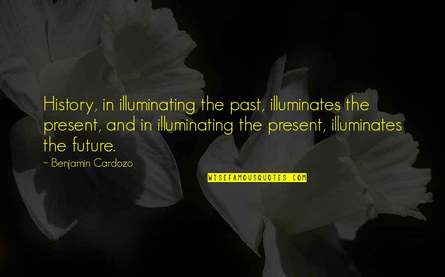 The Past Present Future Quotes By Benjamin Cardozo: History, in illuminating the past, illuminates the present,