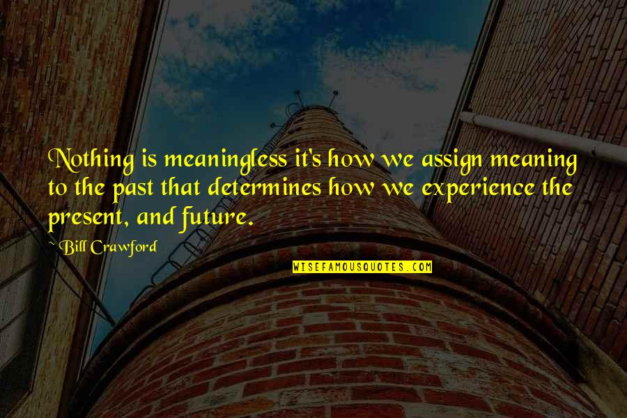 The Past Present Future Quotes By Bill Crawford: Nothing is meaningless it's how we assign meaning