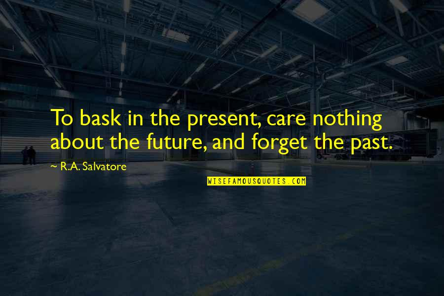 The Past Present Future Quotes By R.A. Salvatore: To bask in the present, care nothing about