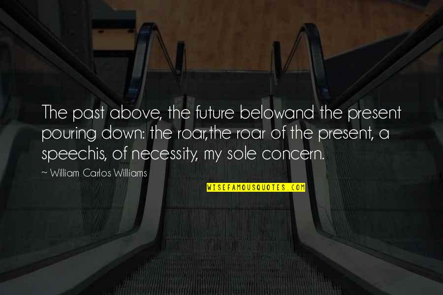 The Past Present Future Quotes By William Carlos Williams: The past above, the future belowand the present