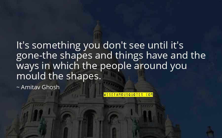 The People Around You Quotes By Amitav Ghosh: It's something you don't see until it's gone-the