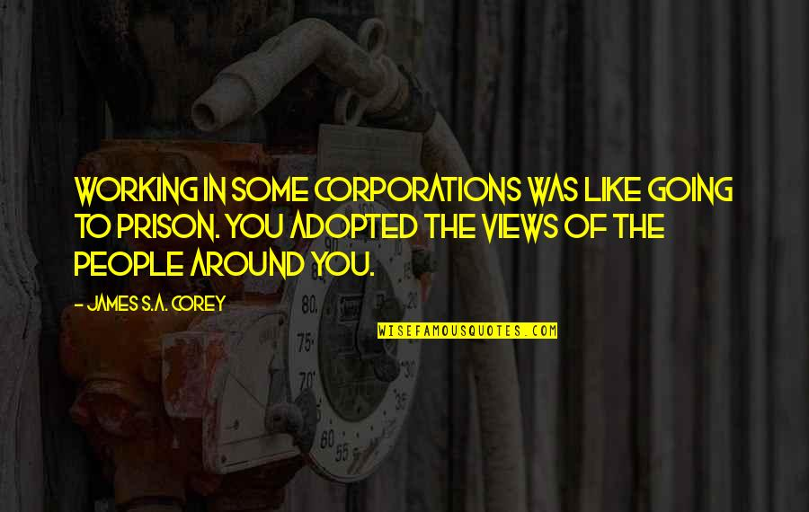 The People Around You Quotes By James S.A. Corey: Working in some corporations was like going to