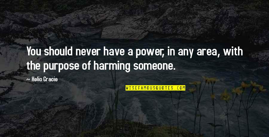 The Power Of Art Quotes By Helio Gracie: You should never have a power, in any