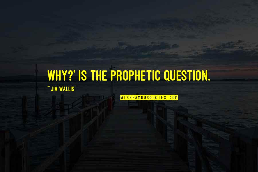 The Prophetic Quotes By Jim Wallis: Why?' is the prophetic question.