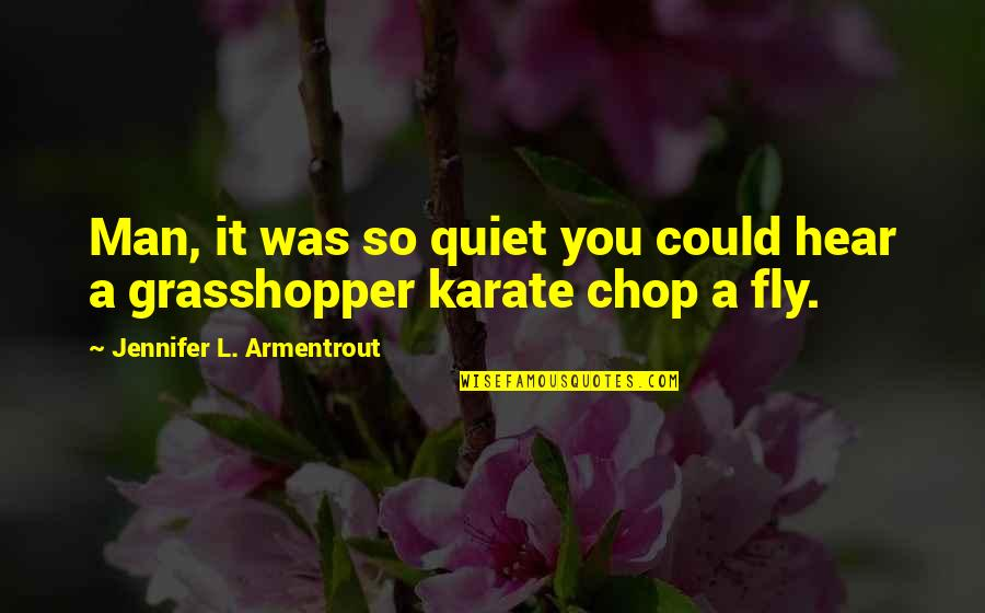 The Quiet Man Quotes By Jennifer L. Armentrout: Man, it was so quiet you could hear