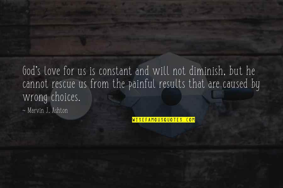 The Quiet Moments Quotes By Marvin J. Ashton: God's love for us is constant and will