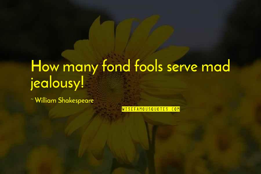 The Quiet Moments Quotes By William Shakespeare: How many fond fools serve mad jealousy!