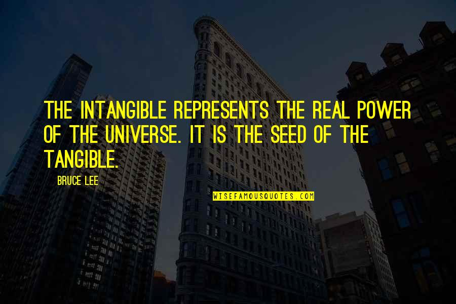 The Real Power Quotes By Bruce Lee: The intangible represents the real power of the