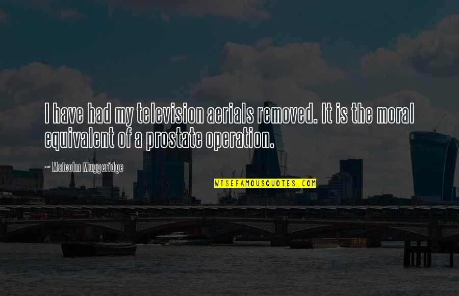 The Rich Man's Daughter Quotes By Malcolm Muggeridge: I have had my television aerials removed. It