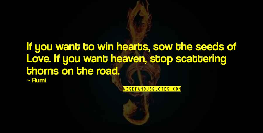 The Road To Heaven Quotes By Rumi: If you want to win hearts, sow the