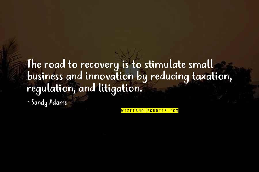 The Road To Recovery Quotes By Sandy Adams: The road to recovery is to stimulate small